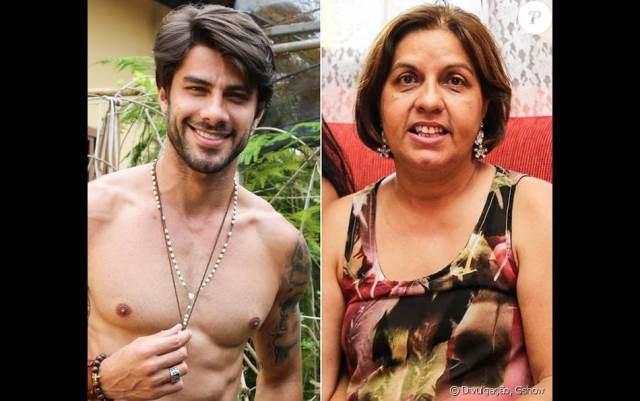 Foto de Renan Oliveira e sua mãe Carmen Oliveira
