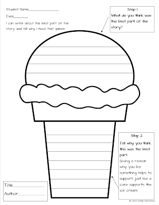 Support With Ice Cream Adventures In Literacy Land
