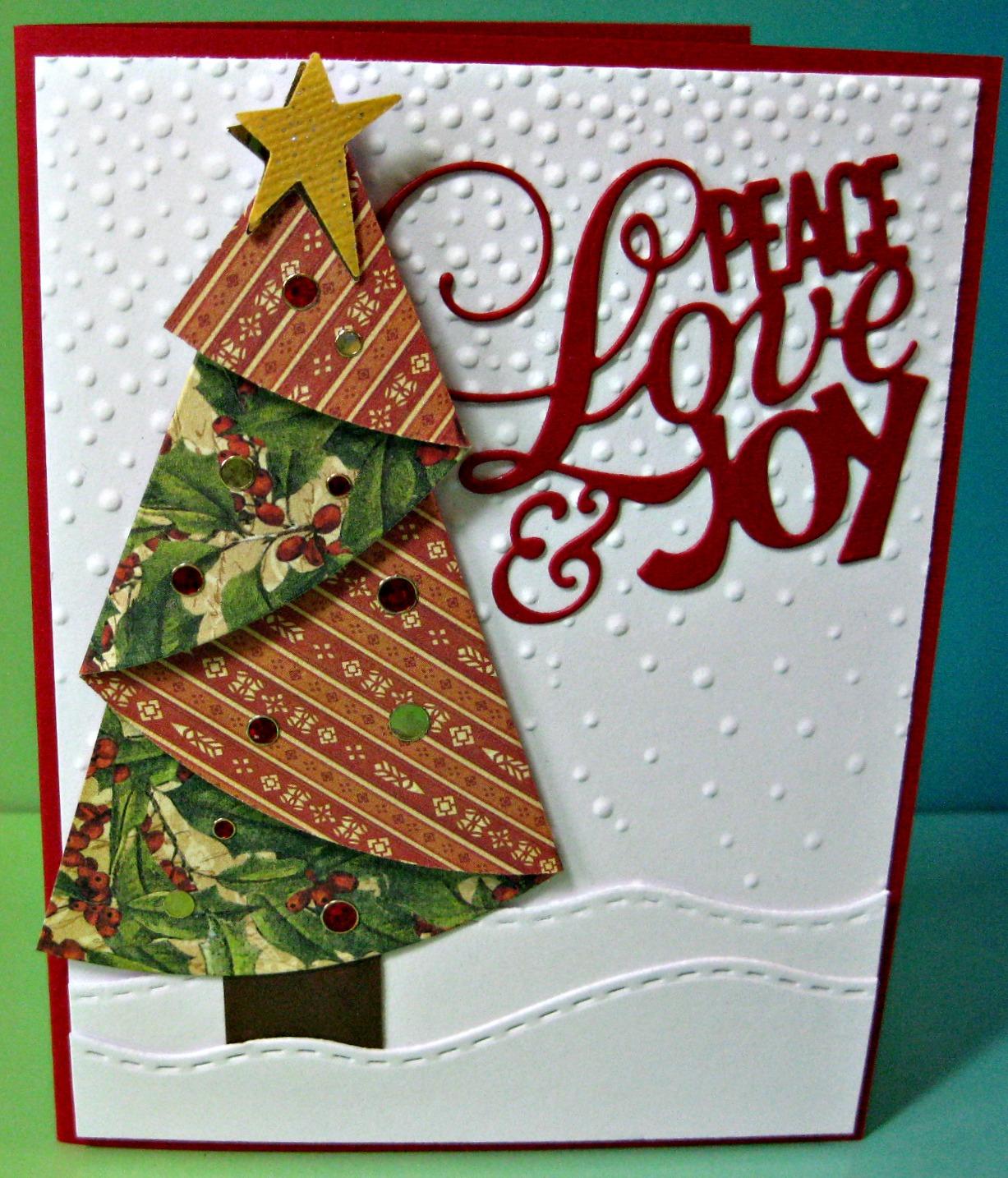 Karen\'s Kreative Kards: Oldie But Goodie Folded Christmas Tree ...