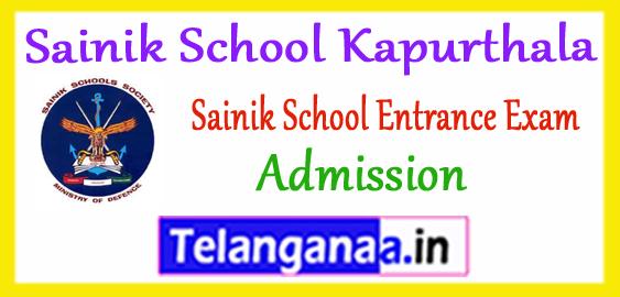 Sainik School 6th 9th Class Admission 2019 Entrance Exam Application