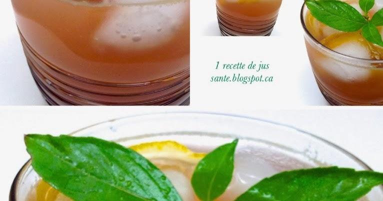 1 recette de jus sant jus de pomme au basilic et au citron. Black Bedroom Furniture Sets. Home Design Ideas