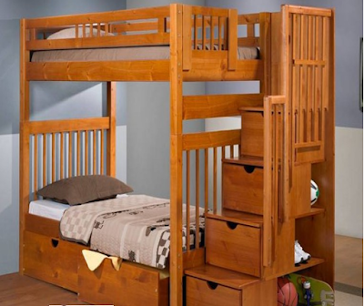 desain tempat tidur tingkat untuk anak