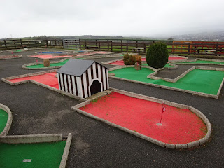 Crazy Golf at Charlotte's Ice Cream Parlour in Dewsbury