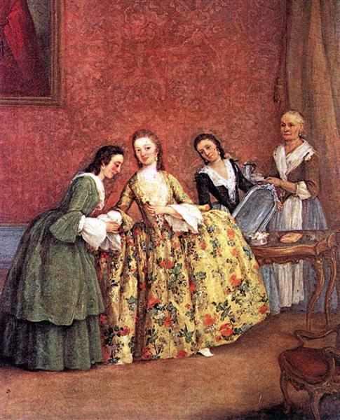 Pietro Longhi - Утро венецианской дамы