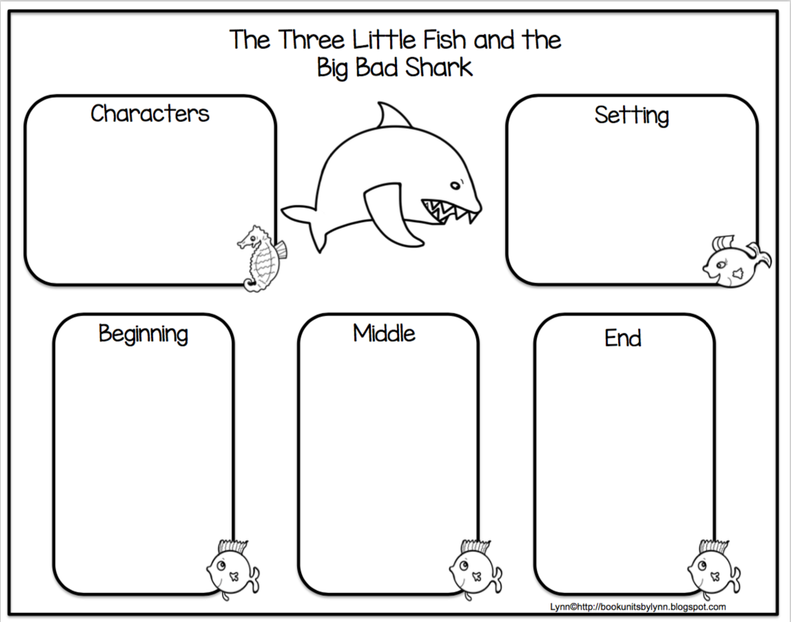 The Three Little Fish And The Big Bad Shark Book Units