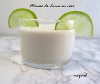 Mousse de Lima en vaso