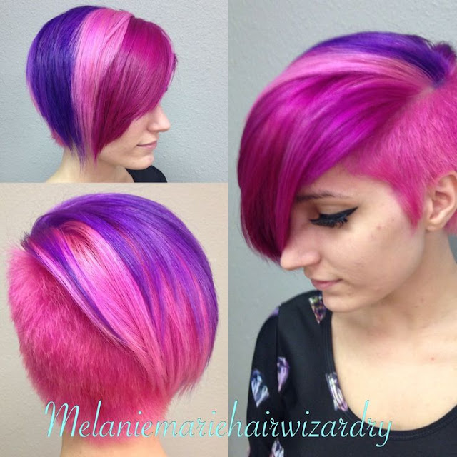 Multi-colored short hairstyles!