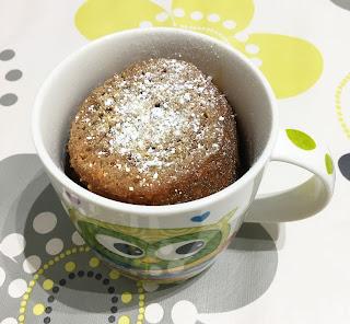 Carrot and coffee mug cake
