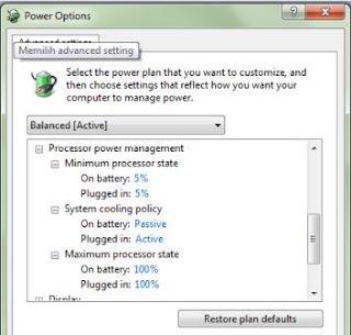 Mengatasi Laptop Tiba-tiba Mati Sendiri dengan Processor Power Management