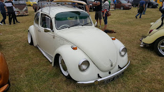 Gorgeous classic white VW beetle