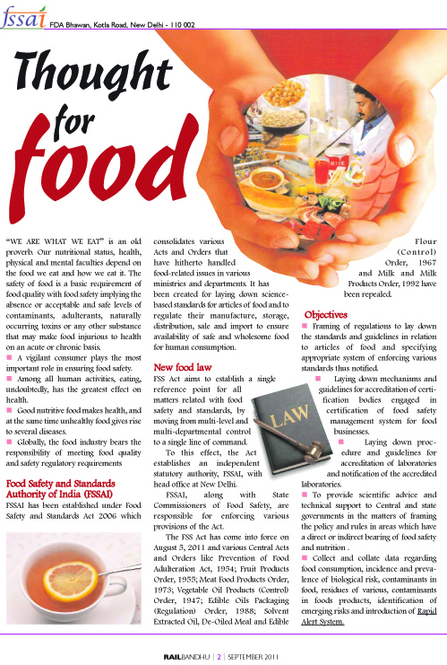 FSSAI Advertorial Food Safety and Standards Authority of India