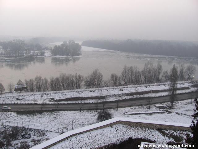 Слияние Дуная и Савы - Белград, Сербия
