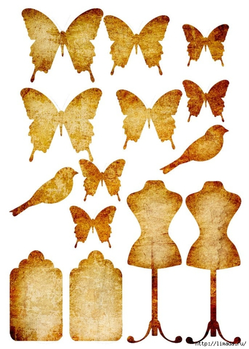 Картинки для декупажа в хорошем качестве: бабочки