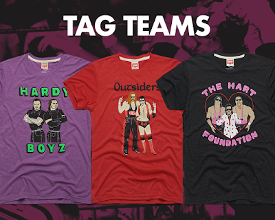 WWE Tag Team T-Shirt Collection by HOMAGE