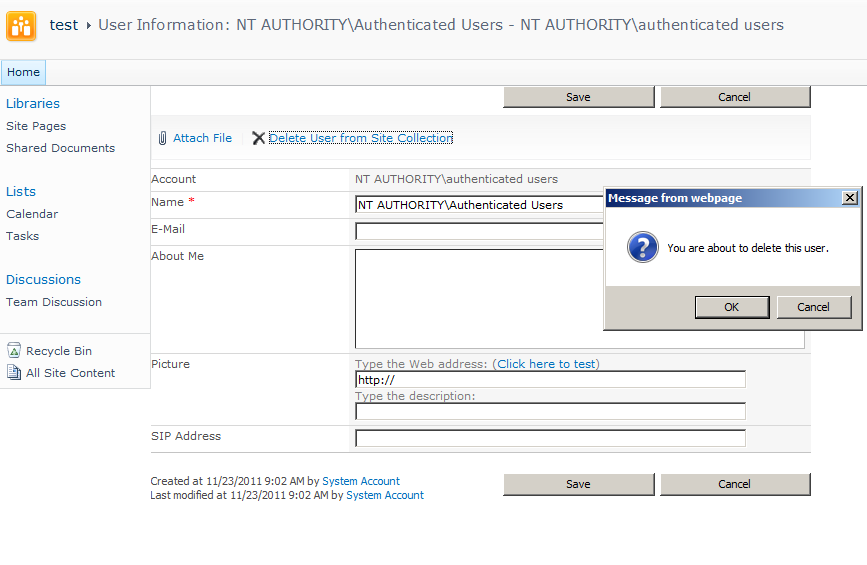 Authenticated users