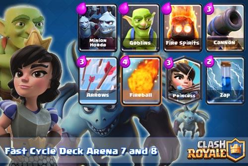 Deck Siklus cepat Arena di 7 8 Clash Royale