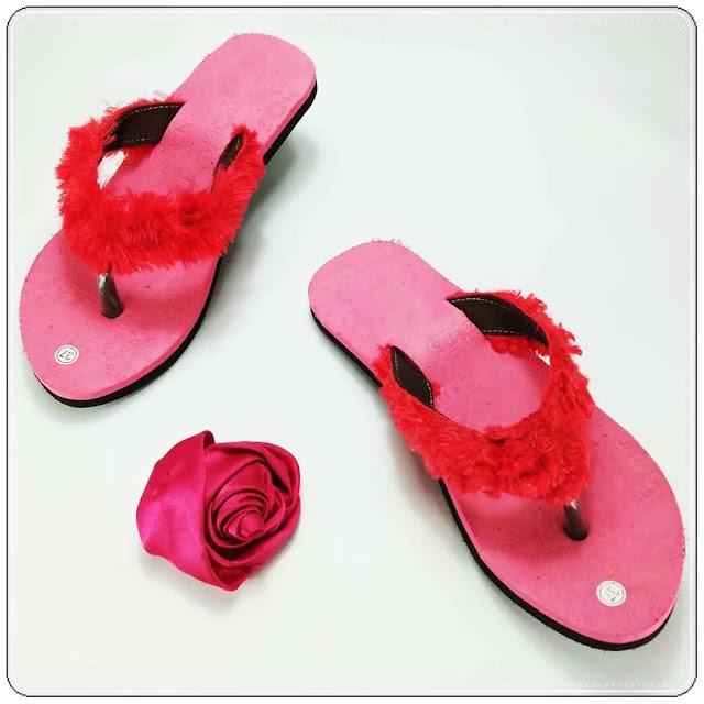Sandal Wanita Termurah   Sandal Lisban Bulu GSJ
