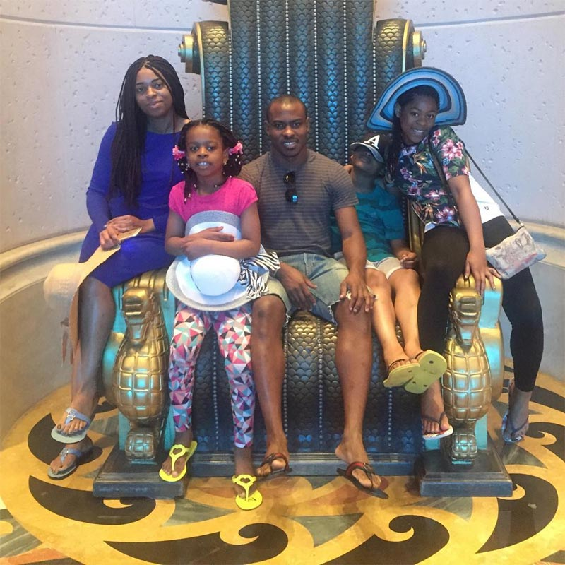 Vincent Enyeama shares adorable photo of his family in Dubai