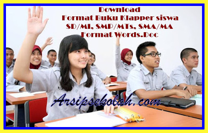 Download Format Buku Klapper siswa SD/MI, SMP/MTs, SMA/MA Terbaru 2017/2018