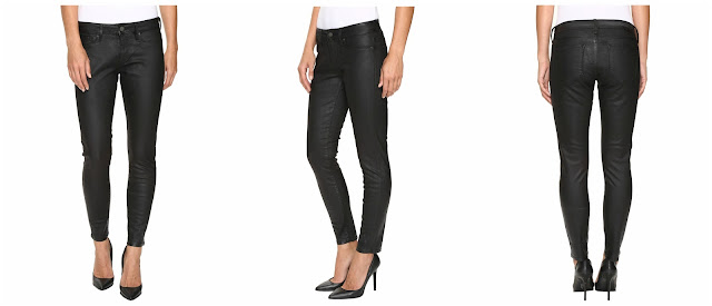 Mavi Jeans Alexa Ankle in Black Coated $40 (reg $118)