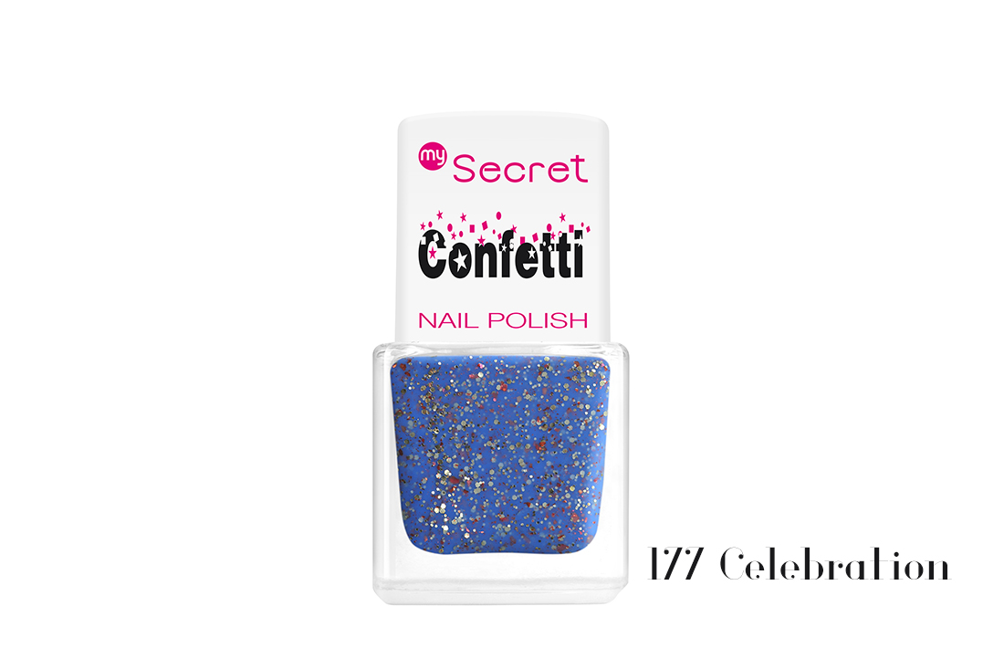 My Secret Confetti Nail Polish 177 Celebration