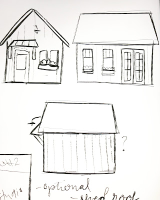 Sketch of Farmhouse Studio / Workshop