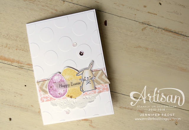 #TGIFc47, Inspiration challenge, Easter theme, Made with Love, Balloon Celebrations, Note card, Papercraft by Jennifer Frost, Stampin' Up!