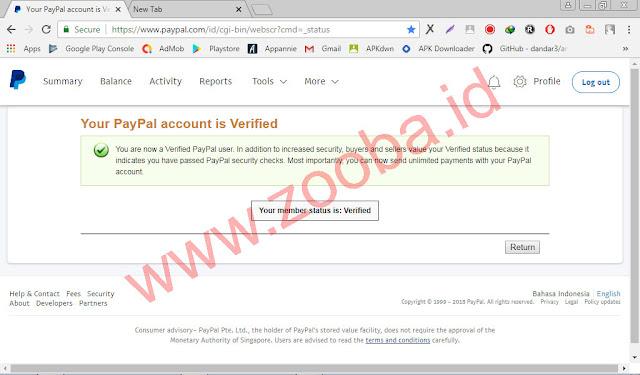 Verifikasi Paypal Terbaru VCN BNI