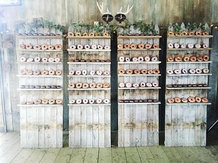 Hermamas Are Donut Walls The New Cupcake Wedding Cake