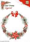 Nellie Snellen CHRISTMAS WREATH Layered clear stamps