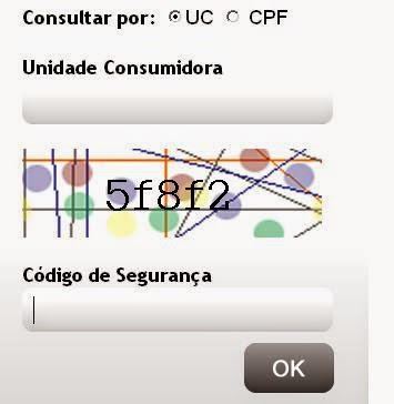 Página de acesso para consulta a 2 via Cepisa e imprimir