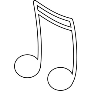 early play templates: Music coloring images in public domain