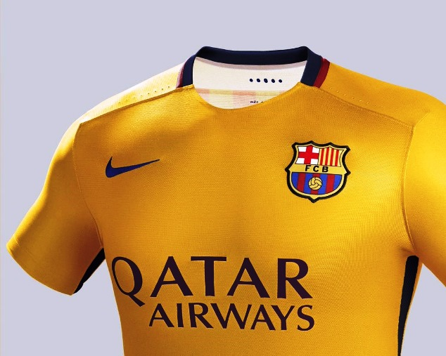 Barcelona 2015-16 away jersey
