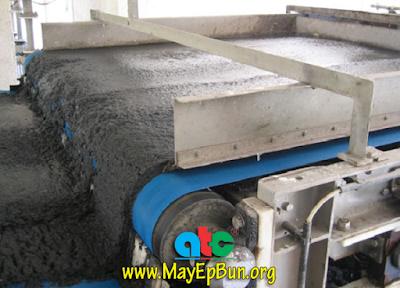 Hình ảnh máy ép bùn băng tải Tefsa đang hoạt động