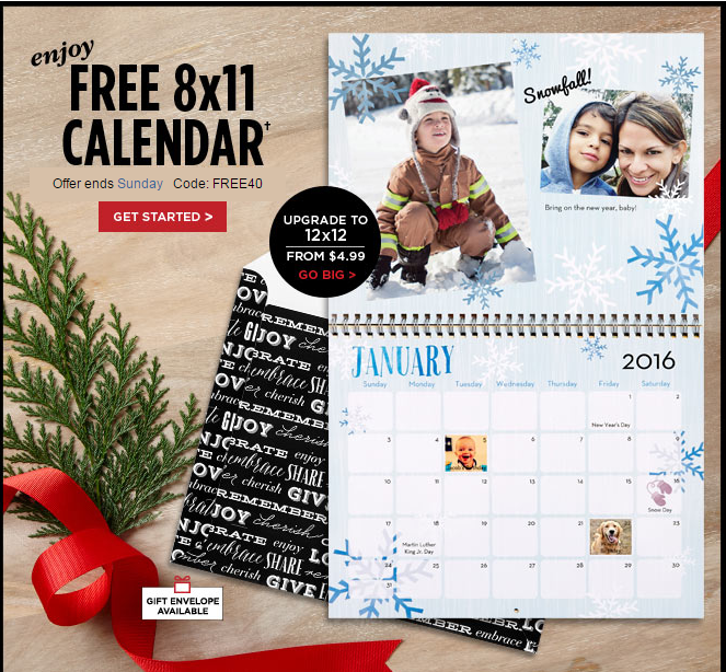 Confessions Of A Frugal Mind Shutterfly Free Wall Calendar Offer
