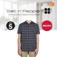 Dusdusan Salt N Pepper Simply Short Sleeve Shirt Size S Black ANDHIMIND