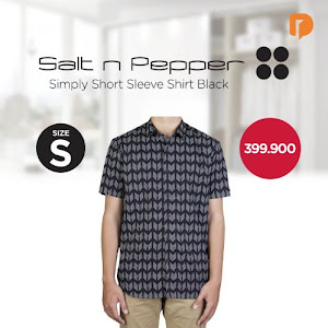 Salt N Pepper Simply Short Sleeve Shirt Size S Black
