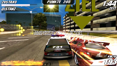 Game PPSSPP Burn Out Legends ISO Ukuran Kecil For Android Free Download