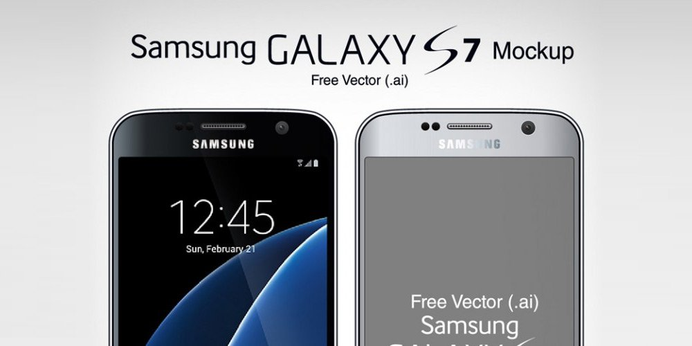 download free vector samsung galaxy s7 s7 edge mock up in ai format