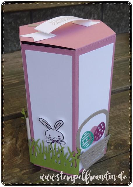 Jessika Tschenscher, www.stempelfreundin.de, Stampin' Up!, Osterkörbchen, Fenster zum Glück, Fensterbox, BigShot, Ostern, Verpackung