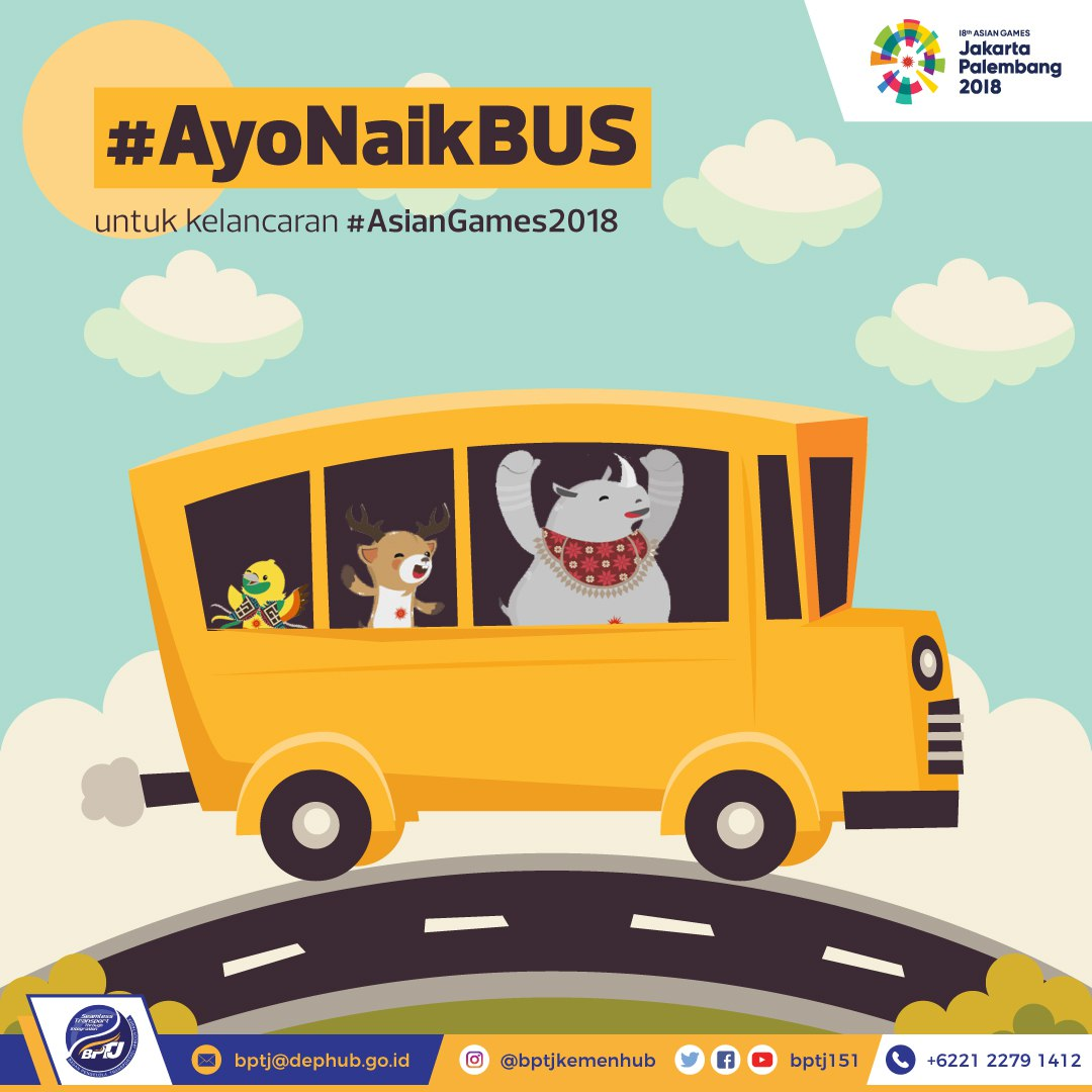 NAIK BUS ASIAN GAMES 2018