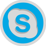 skype button outline