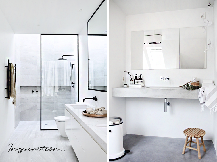 My inspiration for a modern bathroom