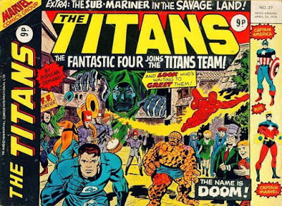 Marvel UK, The Titans #27, Fantastic Four in Latveria