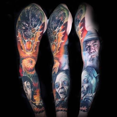Tatuaje del Señor de los Anillos manga completa