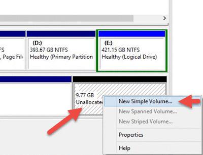 كيفية تقسيم هارد ديسك خارجي بدون برامج في ويندوز Windows 10