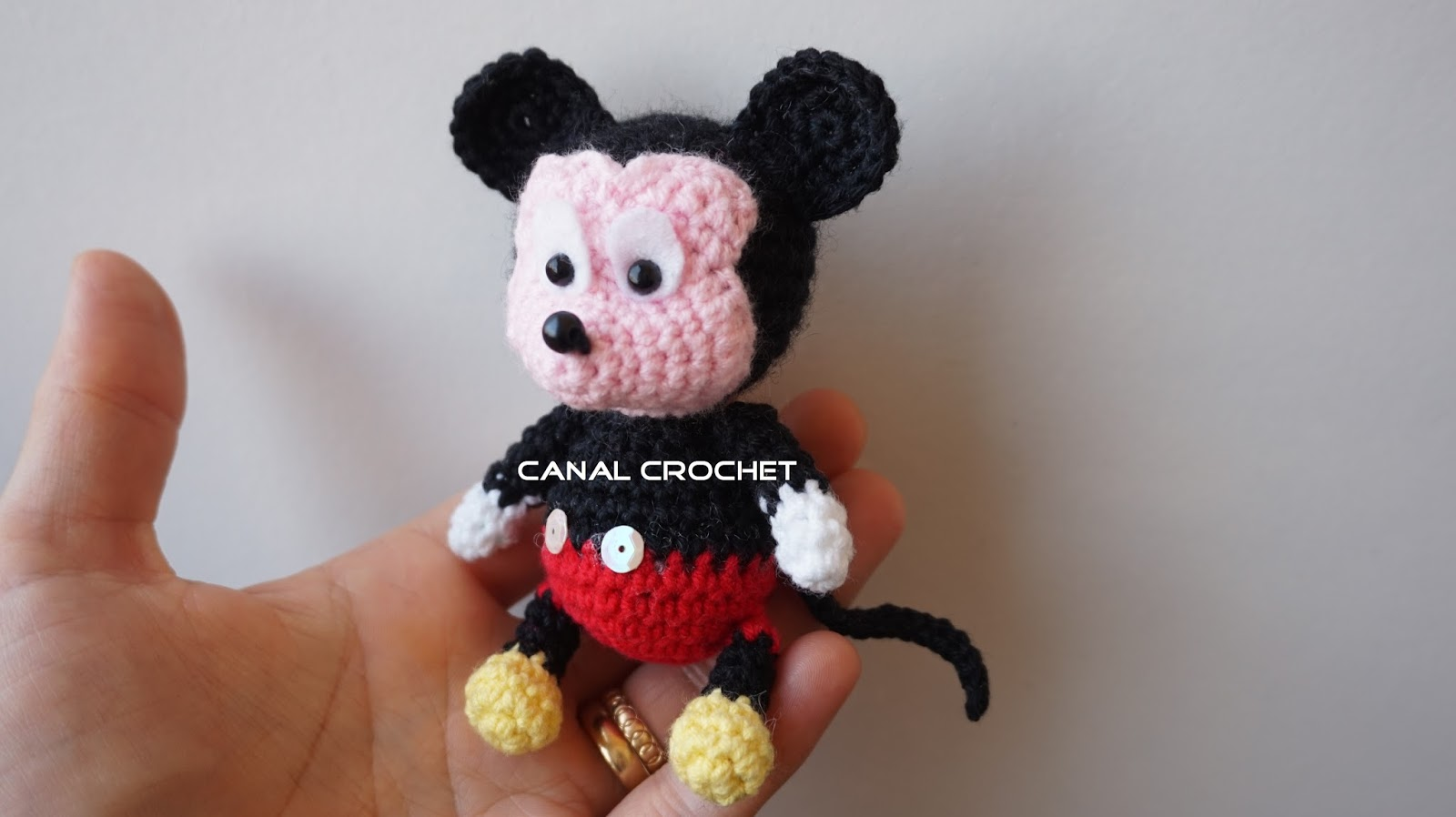 mickey mouse amigurumi parte1 - YouTube | 898x1600