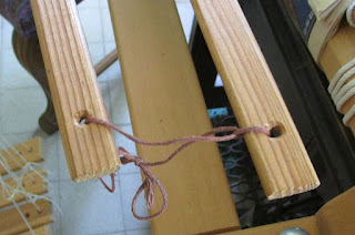 More about making sure that heddles can't fall off the end of the shafts