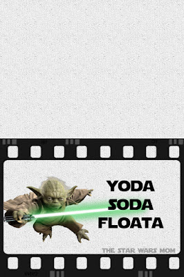 Star Wars Party Drink Label - Yoda Soda Floata - Free Printable