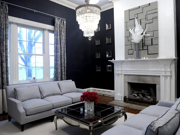 Hgtv Design Ideas Living Room Furniture Placement In Small With Corner Fireplace Modern Style For Classic 2011 From By Limiting The Color Palette To Grays Blacks And Whites A Powerful Hint Of Red Matt Michael Demonstrate That Making Fewer Bigger Statements